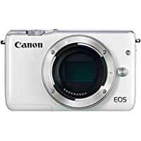 Canon EOS M10 Mirrorless Digital Camera (White Body Only) - International Version (No Warranty)