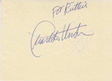 Charlton Heston (Vintage, Inscribed) signed autograph