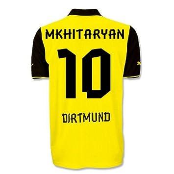 Puma T-shirt BVB Borussia Dortmund Home International Football Replica with  Sponsor Logo blazing yellow e2df5dc95