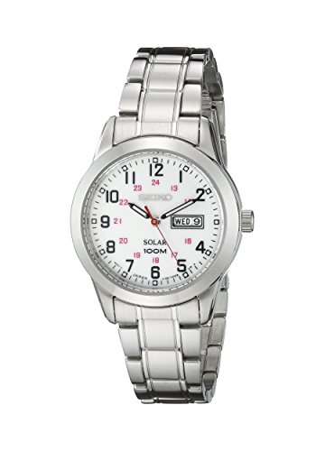 Seiko Women's SUT167 Solar Stainless Steel Bracelet Watch (Stainless Steel Watch Solar)