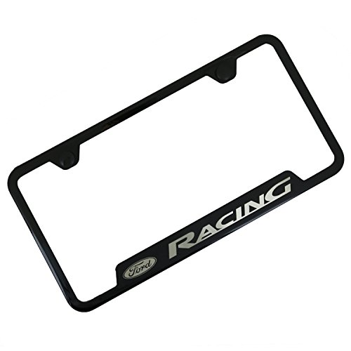 Ford Racing Black Stainless Steel License Plate (Ford Logo License Plate Frame)