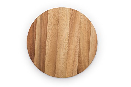 (Ironwood Gourmet 28445 Multi-Use Circle Serving Board, Acacia Wood)
