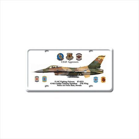 F-16C Fighting Fulcrum Aviation License Plate - Victory Vintage Signs Fighting Fulcrum