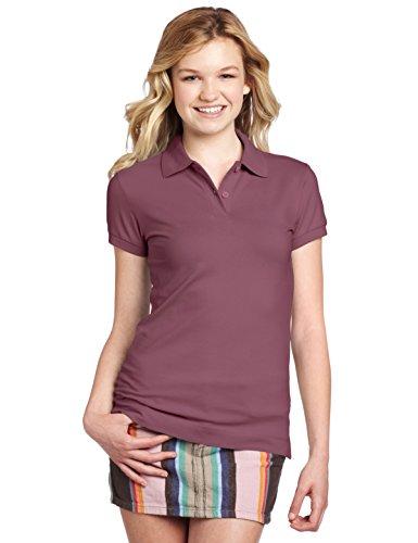 Dickies Girl Juniors Short Sleeve 2 Button Pique Polo,Bur...