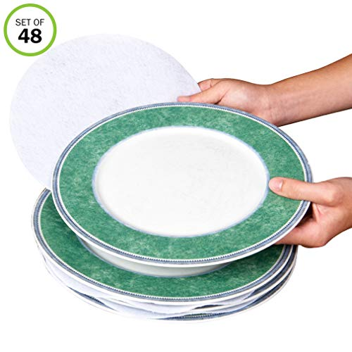 Evelots Plate Separators-Soft Felt-3 Sizes-Fine China/Dish Protectors-Set/48