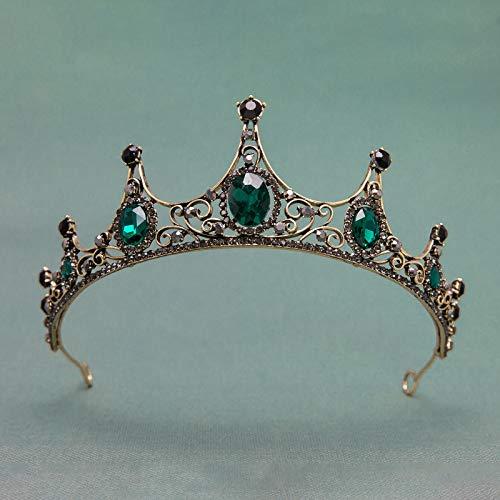 (SWEETV Rhinestone Baroque Tiara for Women - Prom Queen Crown Vintage Wedding Crowns and Tiaras Bridal Hair)