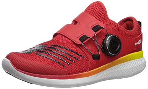 New Balance Boys' Reveal V1 Running Shoe, Velocity RED/Black, 3 W US Little Kid