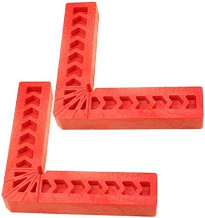 L型スクエアルーラ 直角クランプ 90度ルーラ用 プラスチック 赤色 全2色 - 100mm