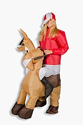 Trendy-Home Disfraz Hinchable Caballo Comic Pony Jinete Carnaval ...