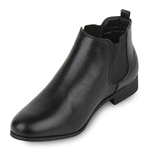 Stiefelparadies - Botas Chelsea Mujer Negro - negro