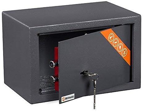 Brihard Home Caja Fuerte con Cerradura de Calidad, 20x31x20cm (HxWxD), Gris Titanio: Amazon.es: Industria, empresas y ciencia