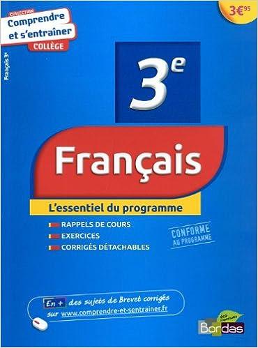 Livre gratuits Comprendre et s'entraîner - Français 3e pdf, epub ebook