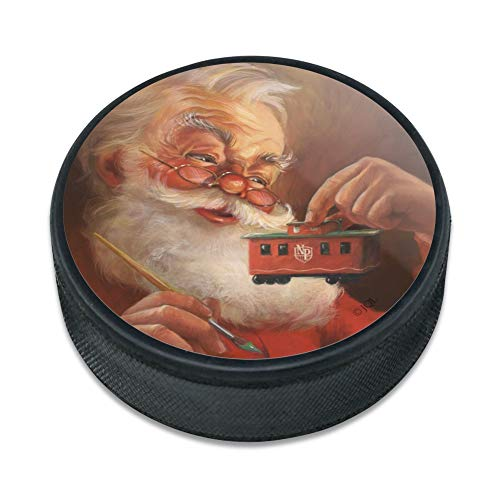 - GRAPHICS & MORE Christmas Holiday Santa Painting Toy Train Caboose Ice Hockey Puck