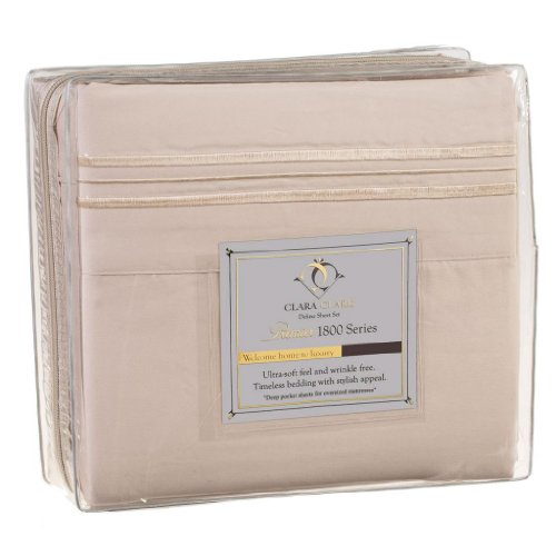 Microfiber 5Pc Split King Size Cream Sheet Set (Vanilla) (Product Set Premiere Mattress)