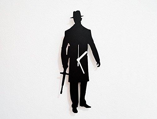 American Mafia Gangster Silhouette - Wall Clock
