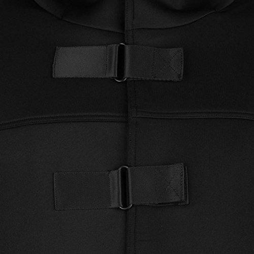 Firetrap Luxe Tech con cappuccio e cerniera nero felpa con cappuccio uomo