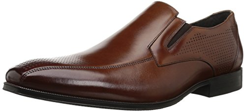 STACY ADAMS Men's Fairfax Bike Toe Slip-ON Loafer, Cognac, 9.5 M US