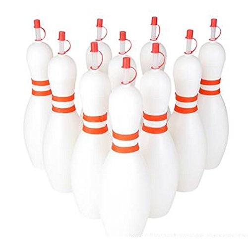 24oz PLASTIC BOWLING SIPPER CUP. ONE DOZEN.