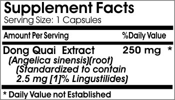 Dong Quai Standardized Extract 250mg ~ 200 Capsules - No Additives ~ Naturetition Supplements