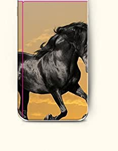 Case Cover For HTC One M9 Black Horse Jumping
