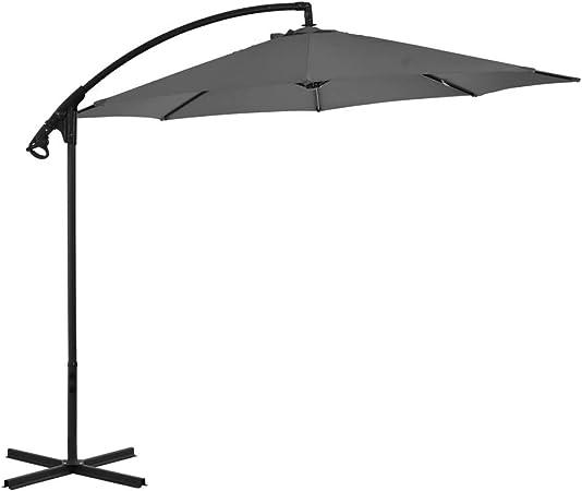 ZXL Sombrilla Cantilever con Poste de Acero 300 cm Antracita Hogar y jardín Césped y jardín Vida al Aire Libre Sombrillas y sombrillas al Aire Libre Sombrilla al Aire Libre: Amazon.es: Hogar