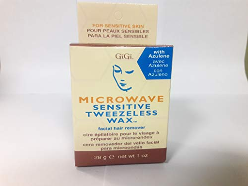 Gigi Microwave Sensitive Tweezeless Wax - GiGi Microwave Tweezeless Wax, 1 Ounce (Pack of 2)
