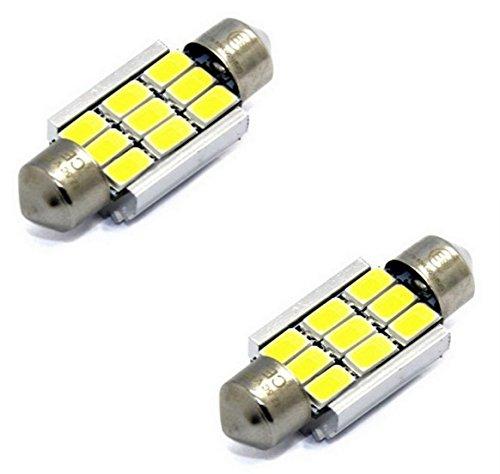 Kofferraum Fussraumbeleuchtung Einstiegs 2x Lampen Soffitten mit E9-Pr/üfzeichen und StVZO-Zulassung CE CANBUS 36MM 9-Dioden 3W KALTWEI/ß Innen Kennzeichen