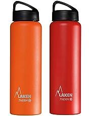 Laken Unisex - volwassenen Classic Thermo 0,75 liter, Bpa vrij, herbruikbaar, Recyelbar (brede opening) Lakenfles 0,75 l