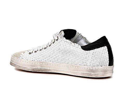 Blanco Mujer 203 Zapatos Baja Bianco DC132 Zapatillas Noir Cordones Caf Negro entrelazando q6y7tnBqT