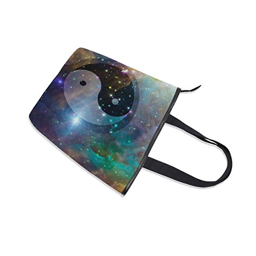 Bag MyDaily Galaxy Tote Celestial Yin Yang Shoulder Womens Handbag Canvas wrwdq0tT