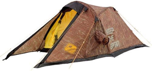 Roadsign 2 Personen Trekking Zelt, braun, used look, 65+225x160x105 cm, 70500
