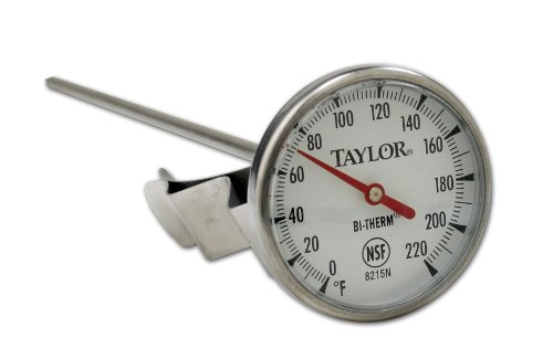 Taylor Precision 8215N 8-Inch Bi-Therm Pocket Dial Thermometer, 1.75-Inch Dial, 0 to 220 Degree F, NSF (Steel Thermometers Pocket Stainless)