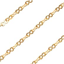 22K Gold Plated Fine Figure 8 Cable Chain 3x1.8mm Links - Sold By The Foot