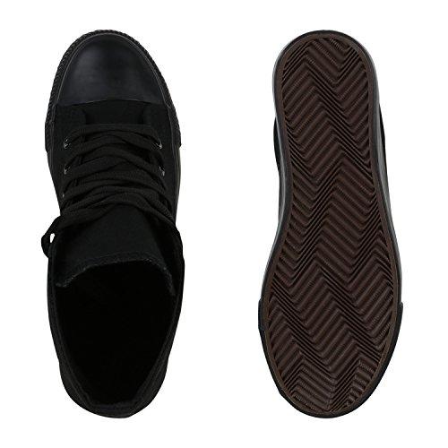 Flandell Unisex Stiefelparadies Sneaker Carlet Damen Übergrößen Herren High Schwarz q7YzYd1xw