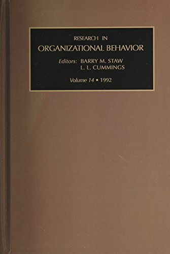 Research in Organizational Behavior, Volume 14