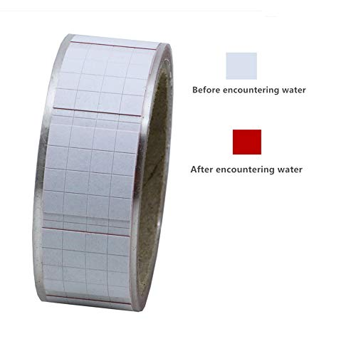 Hybsk Water Detection Sticker. Turn Red Stickers.Water-Sensitive Tamper Proof Warning Labels on Roll for Products Authentication