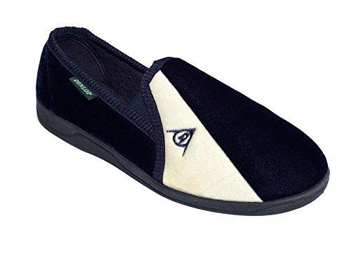 Dunlop Duncan Herren Hausschuhe Marineblau / cremefarben