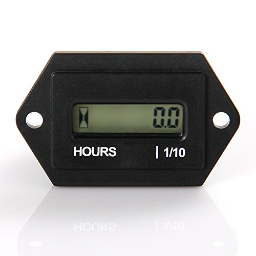 Runleader Digital LCD Hour Meter, AC 86V to 230V, Total Hours Resettable, Use For ZTR Lawn Mower Tractor Generator Golf cart Club car Scrubber Marine ATV Motor Compressor and other Powered Equipment by RunLeader