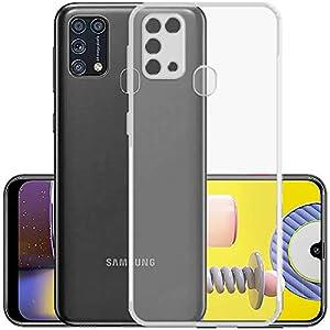 Amzio Bumper Case for Samsung Galaxy M31 Prime/M31/ F41(Silicone/Transparent)