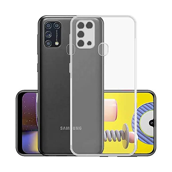 Amzio Bumper Case for Samsung Galaxy M31 Prime/M31/ F41(Silicone/Transparent) 2021 July Back cover designed for Samsung Galaxy M31 Prime / F41 / M31 It's fully anti-shock, made up by air cushion technology to protect all 4 corners of phone. Durable & Flexible material makes fitting and removing the case much easier High quality and nicely made for maximum durability and protection.