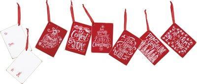 Set of 12 Chalk Tags - ''Christmas Peace''