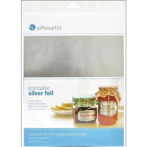 Silhouette Printable Silver Foil - Gold Silver Brads