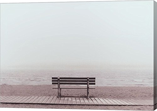 Bench: Westport, CT by Maya Nagel Canvas Art Wall Picture, Gallery Wrapped with Image Around Edge, 11 x 8 - Ct Images Westport