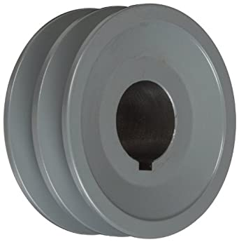 "TB Woods 2AK32118 FHP Bored-To-Size, 3.25"" Outside Body Diameter, 1.125"" Bore Diameter V-Belt Sheave"