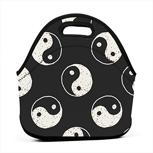 AGRBLUEN Great Gift - Portable Outdoor Chinese Taiji Lover Yinyang China Bento Bag Hand Lunch Bag Baby Pouch Tote Multifunctional Handbag for Student Worker Travel Mummy Bag