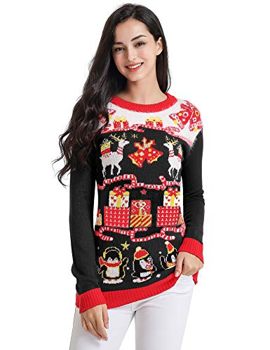 v28 Ugly Christmas Sweater, Women Feather Knit Xmas for sale  Delivered anywhere in USA