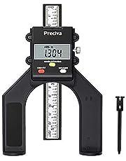 Tiefenmesser, Preciva 0 - 80mm Profiltiefenmesser Digitaler Tiefenmesser für Holzbearbeitung und Maschinenbau