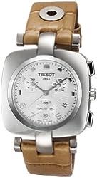 Tissot Women's T0203171603700 T-Trend Odaci-T Chronograph Beige Leather Watch