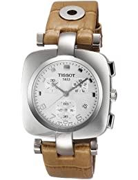 Tissot Women's T-Trend Odaci-T Chronograph Leather Watch Silver T0203171603700