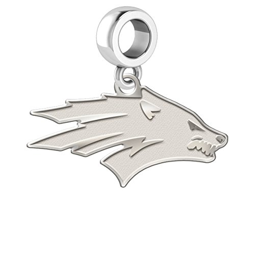 College Jewelry Nevada Reno Wolf Pack Natural Finish Logo Cut Out Dangle Charm Fits All European Style Bracelets]()